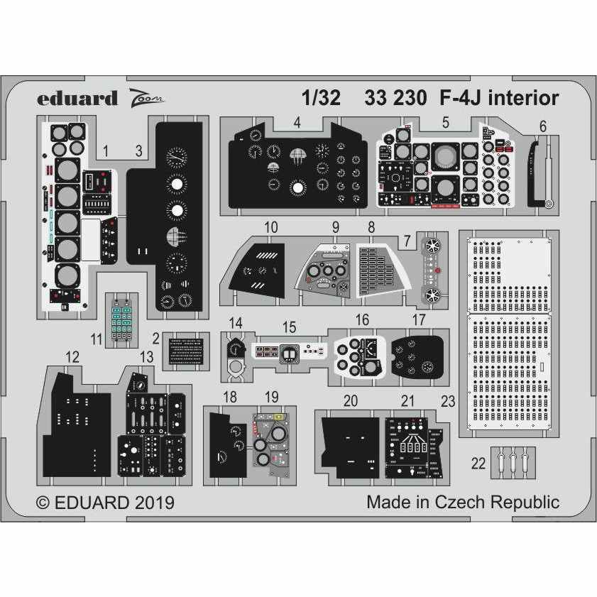 【新製品】33230 塗装済 マクドネル・ダグラス F-4J ファントムII ズーム エッチングパーツ (タミヤ用)
