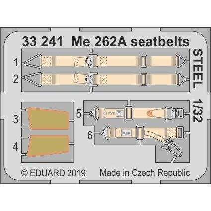 【新製品】33241 塗装済 メッサーシュミット Me262A シュワルベ シートベルト (ステンレス製) (レベル用)