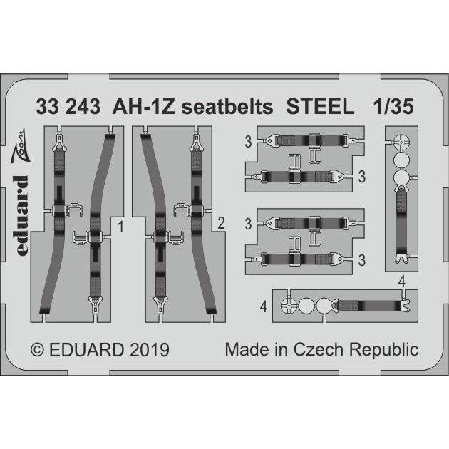 【新製品】33243 塗装済 AH-1Z ヴァイパー シートベルト (ステンレス製) (アカデミー用)