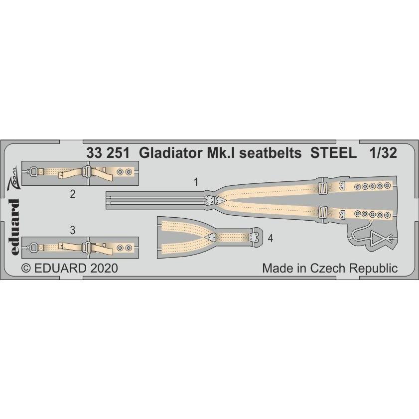 【新製品】33251 グロスター グラディエーター Mk.Ⅰ シートベルト(ステンレス製) (ICM用)