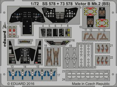 【新製品】SS578)塗装済 ハンドレページ ヴィクター B Mk.2計器盤/シートベルト
