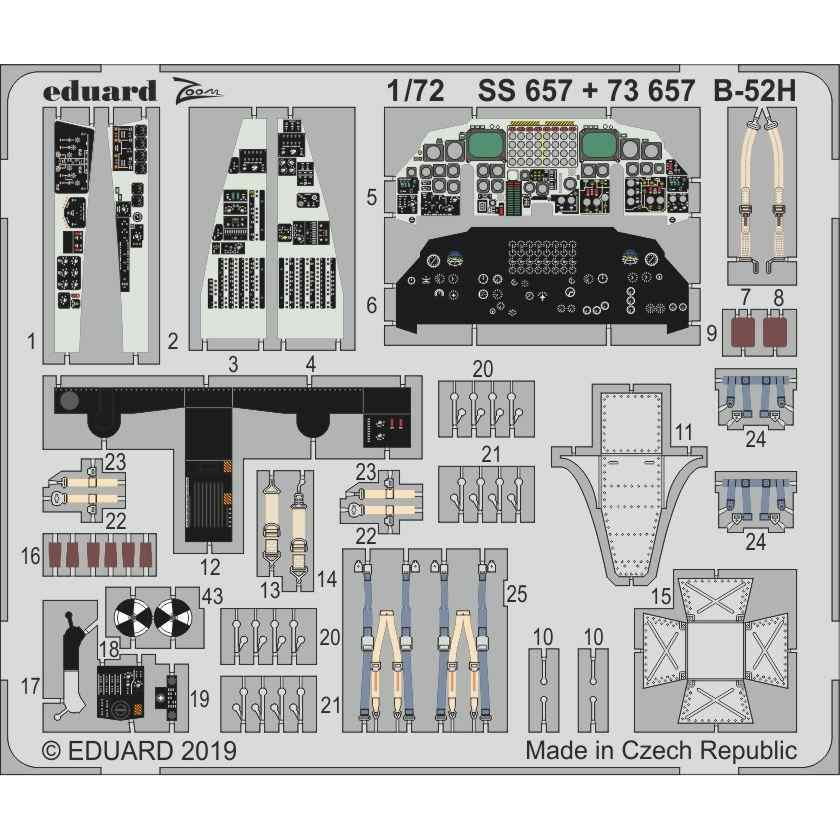 【新製品】SS657 塗装済 ボーイング B-52H ズームエッチングパーツ (モデルコレクト用)