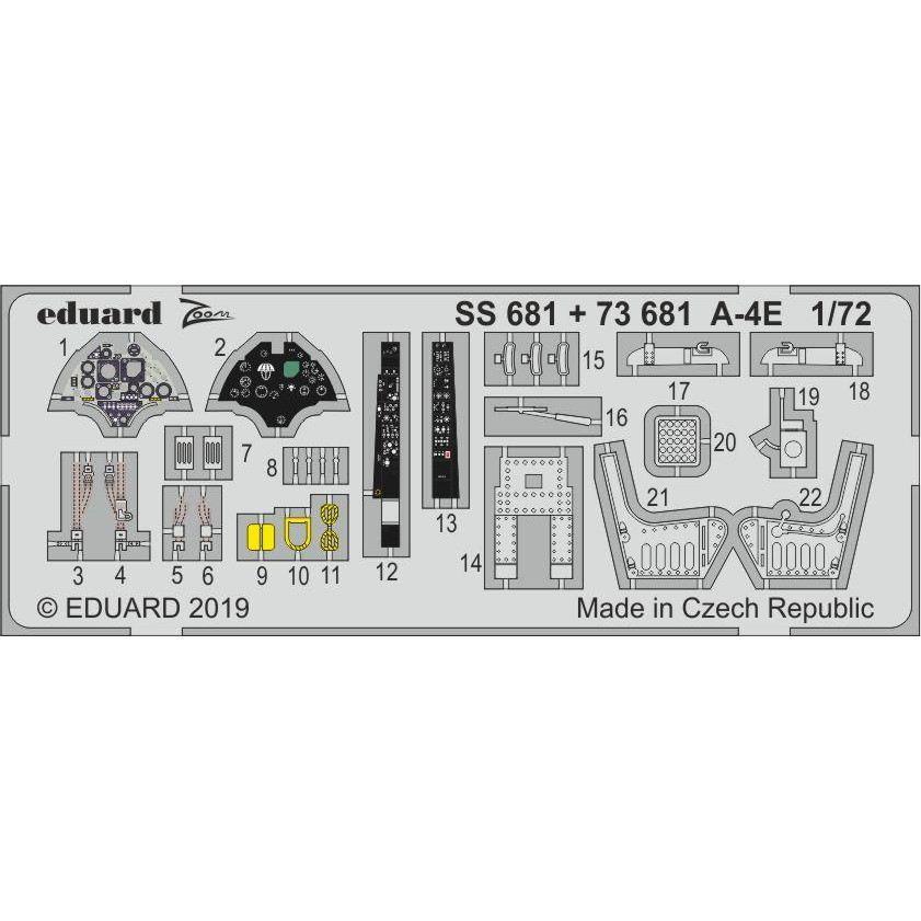 【新製品】SS681 塗装済 ダグラス A-4E スカイホーク ズーム エッチングパーツ (ホビーボス用)