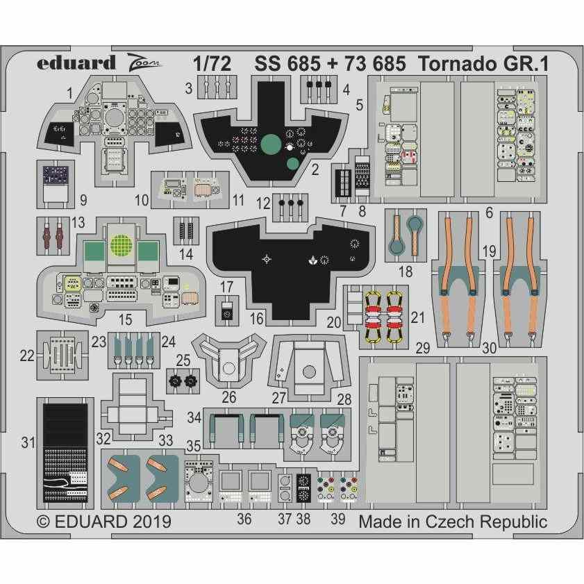 【新製品】SS685 塗装済 メッサーシュミット Bf109F-2 ズームエッチングパーツ (レベル用)