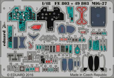 【新製品】FE803)塗装済 MiG-27 フロッガー 計器盤