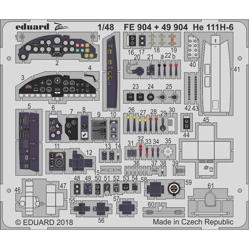 【新製品】FE904 塗装済 ハインケル He111H-6 計器盤