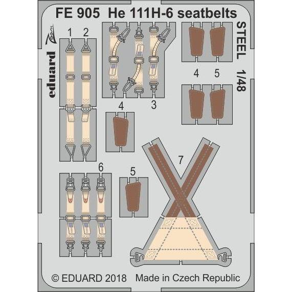 【新製品】FE905 塗装済 ハインケル He111H-6 シートベルト