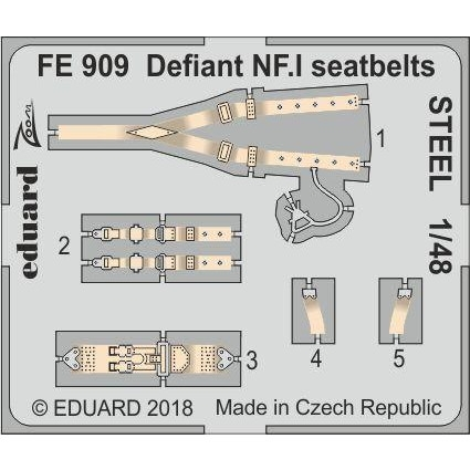 【新製品】FE909 塗装済 ボルトンポール デファイアント NF.I シートベルト