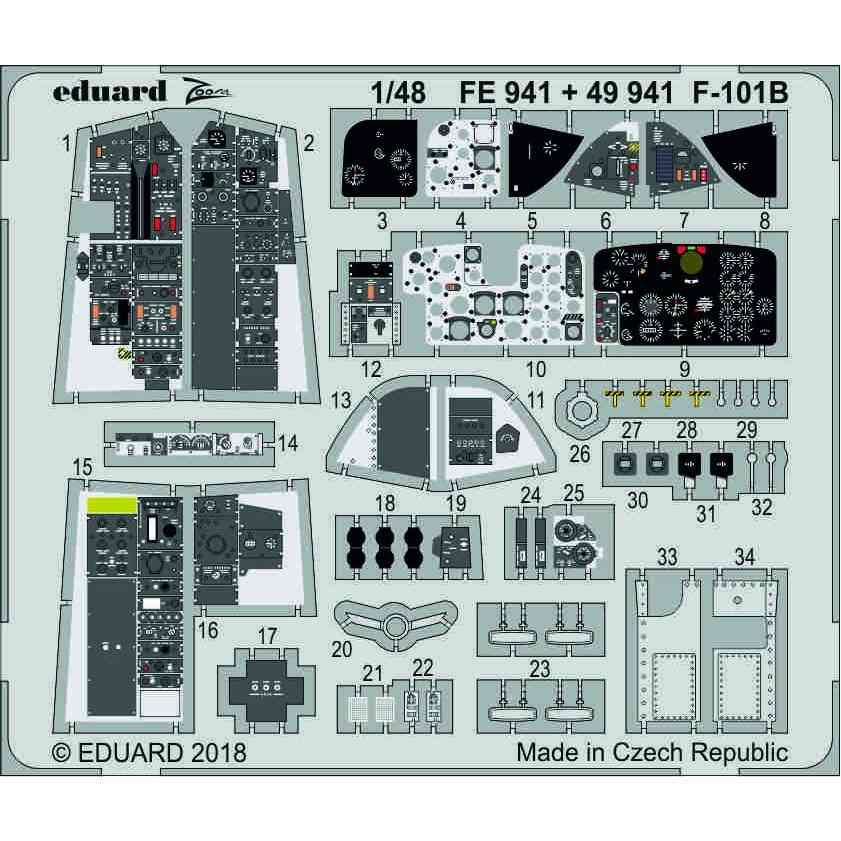 【新製品】FE941 塗装済 F-101B