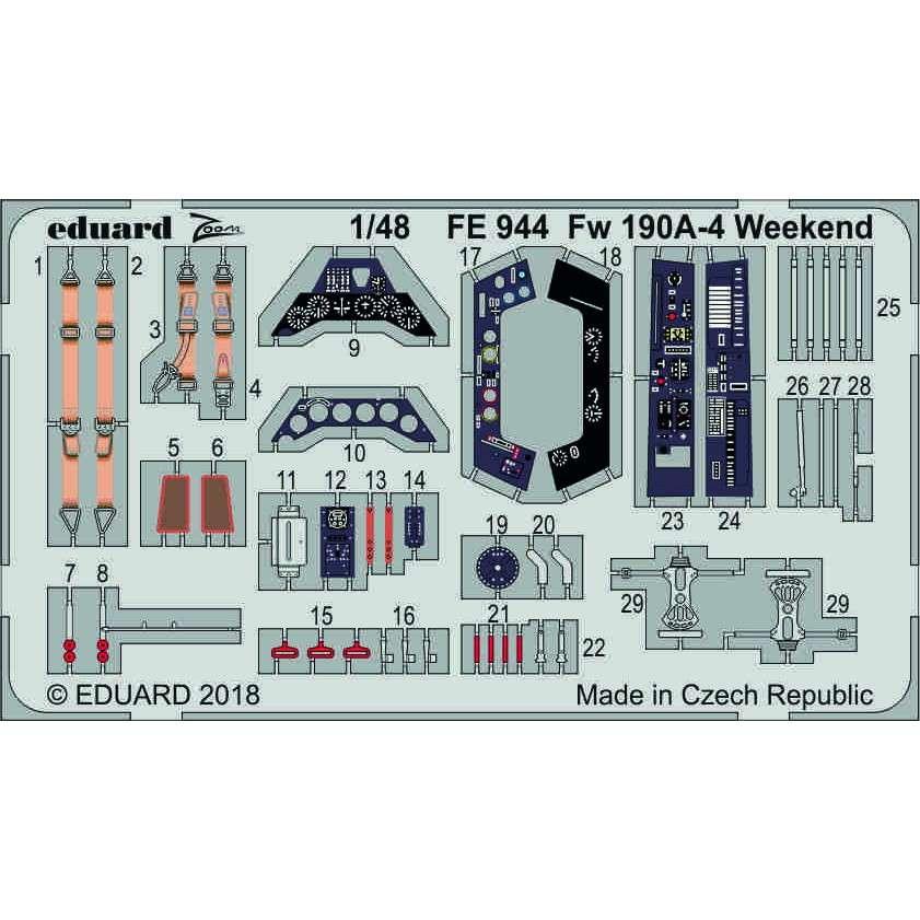 【新製品】FE944 塗装済 フォッケウルフ Fw190A-4 ウィークエンド
