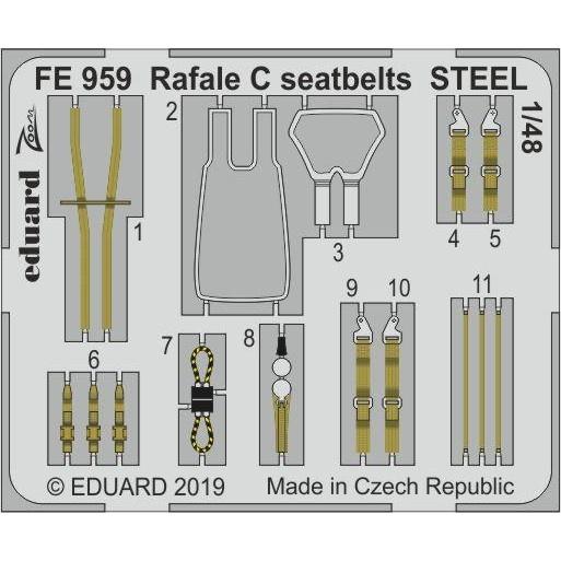 【新製品】FE959 塗装済 ダッソー ラファールC シートベルト