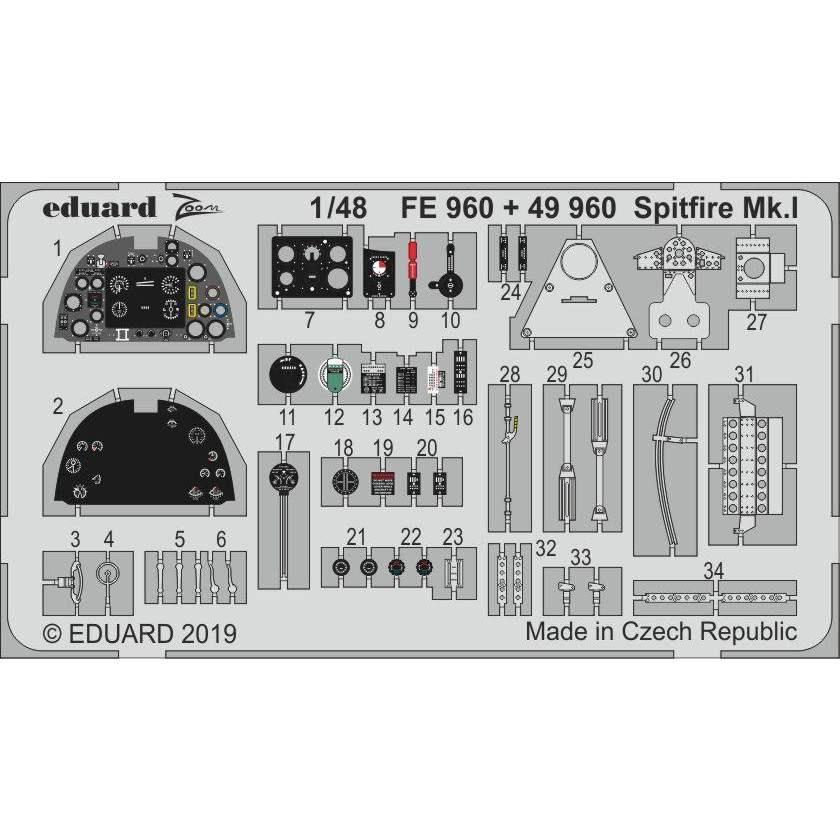 【新製品】FE960 塗装済 スピットファイアMk.I