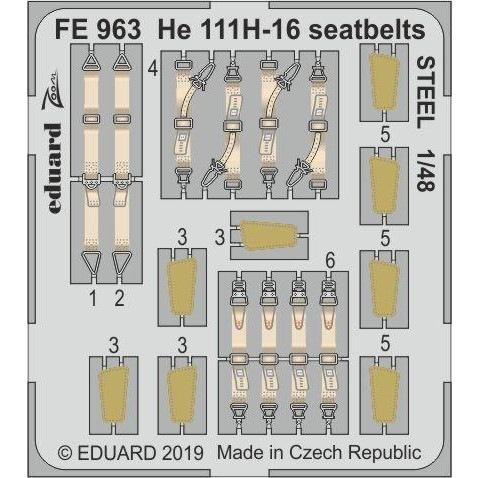 【新製品】FE963 塗装済 ハインケル He111H-16 シートベルト