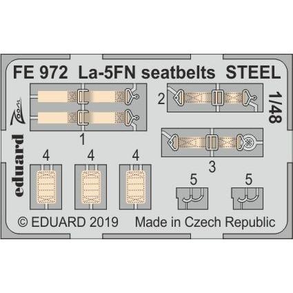 【新製品】FE972 塗装済 ラヴォーチキン La-5FN シートベルト (ステンレス製) (ズべズダ用)