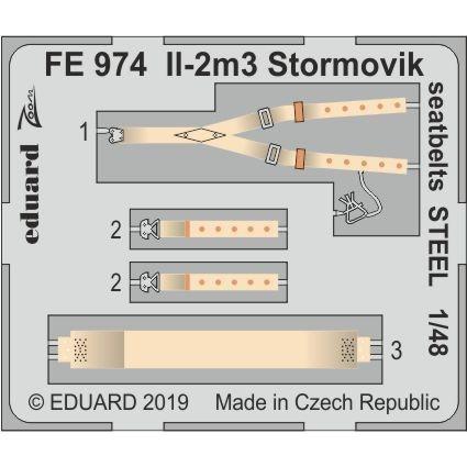 【新製品】FE974 塗装済 イリューシン Il-2m3 シュトルモビク シートベルト (ステンレス製)(アキュレイトミニチュア用)