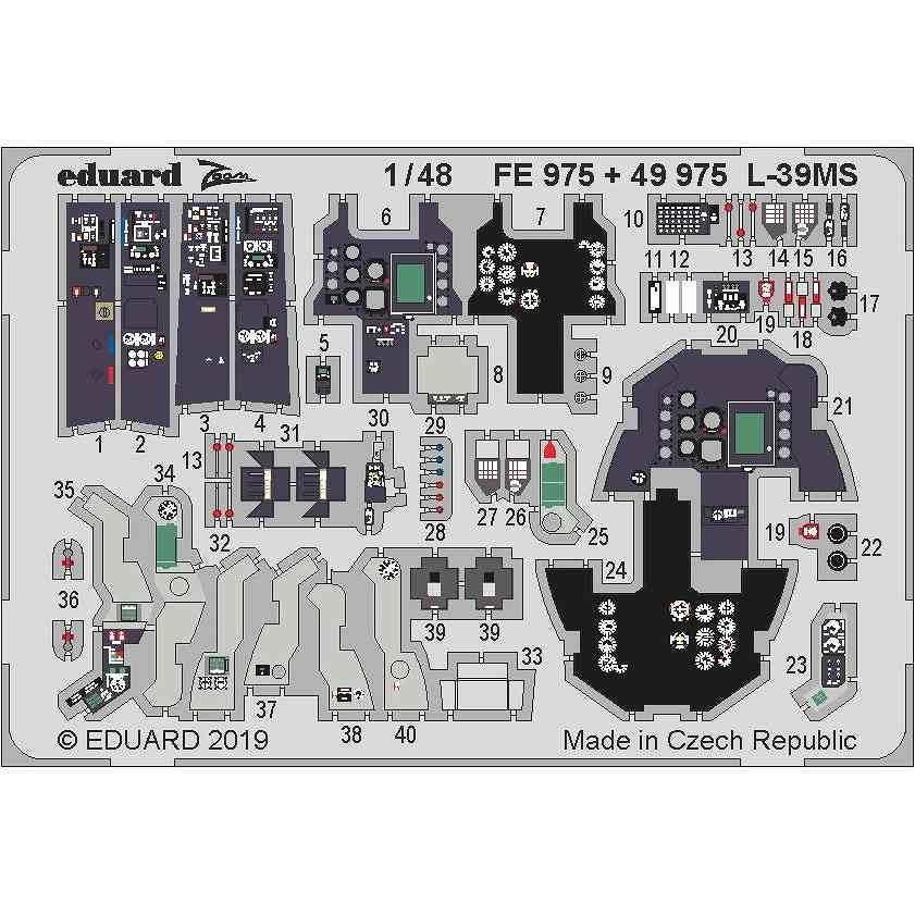 【新製品】FE975 塗装済 アエロ L-39MS スーパーアルバトロス ズームエッチングパーツ (トランぺッター用)
