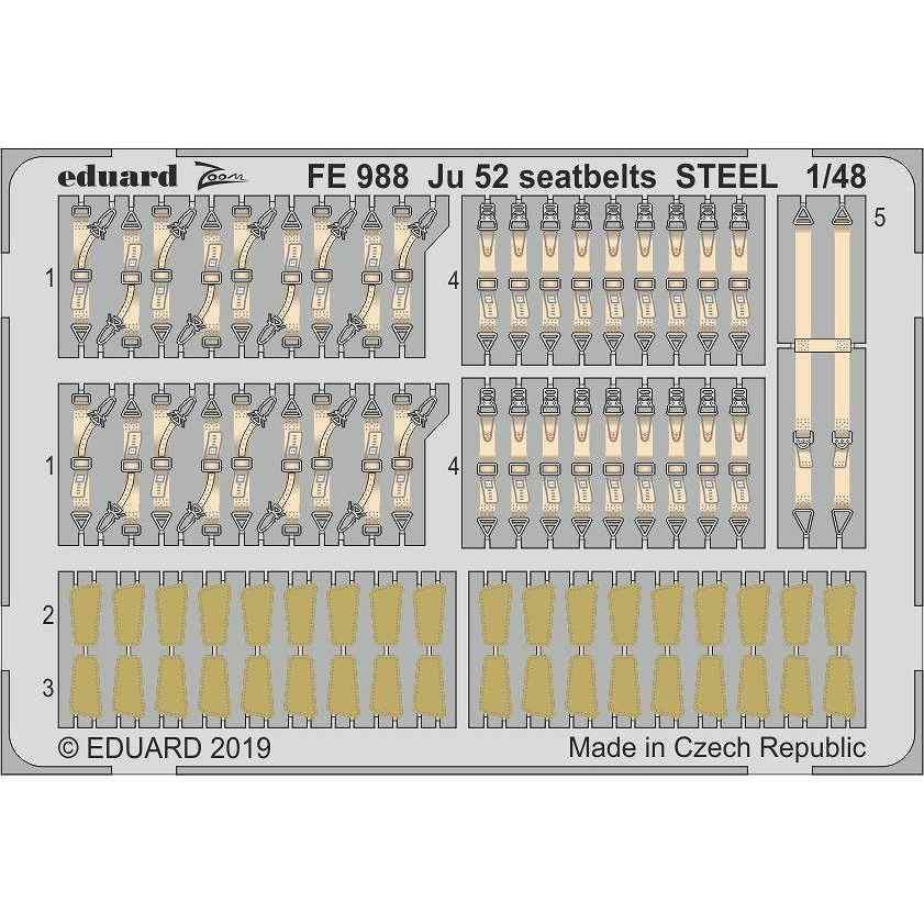 【新製品】FE988 塗装済 ユンカース Ju52 シートベルト (ステンレス製) (レベル用)