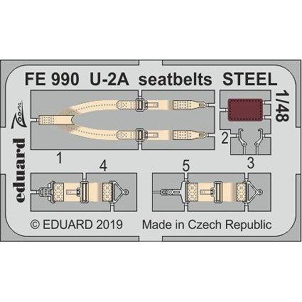 【新製品】FE990 塗装済 U-2A シートベルトエッチングパーツ (AFVクラブ用)