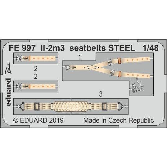 【新製品】FE997 塗装済 イリューシン Il-2m3 シートベルト (ステンレス製) (タミヤ用)