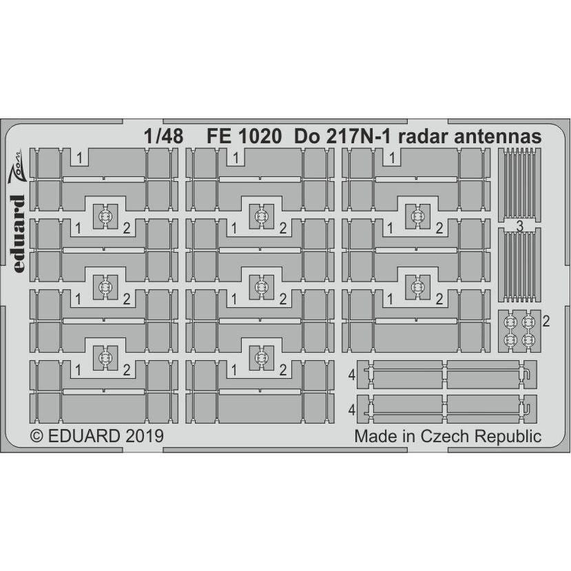 【新製品】FE1020 塗装済 ドルニエ Do217N-1 レーダーアンテナ (ICM用)