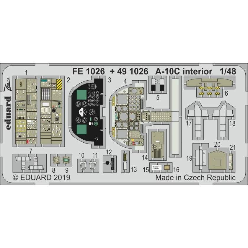 【新製品】FE1026 塗装済 フェアチャイルド A-10C サンダーボルトII ズーム エッチングパーツ (イタレリ用)