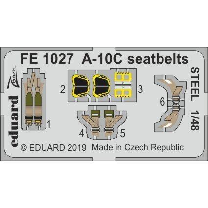 【新製品】FE1027 塗装済 フェアチャイルド A-10C サンダーボルトII シートベルト (ステンレス製) (イタレリ用)