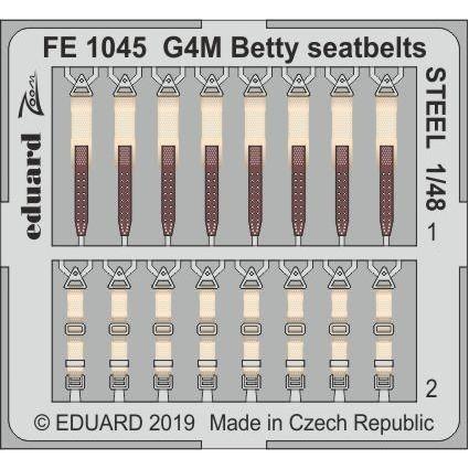 【新製品】FE1045 塗装済 三菱 G4M1 一式陸上攻撃機 一一型 シートベルト (ステンレス製) (タミヤ用)