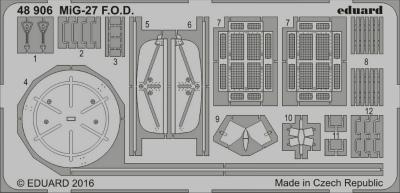 【新製品】48906)MiG-27 インテークカバー