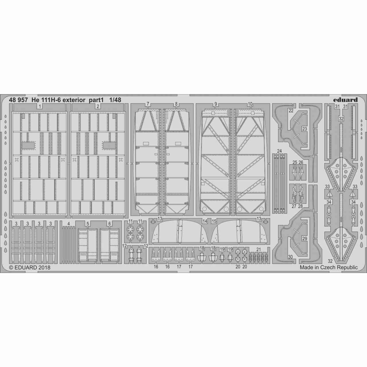 【新製品】48957 ハインケル He111H-6 外装