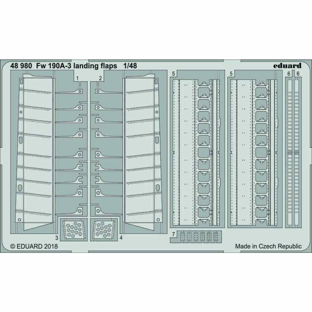 【新製品】48980 フォッケウルフ Fw190A-3 ランディングフラップ
