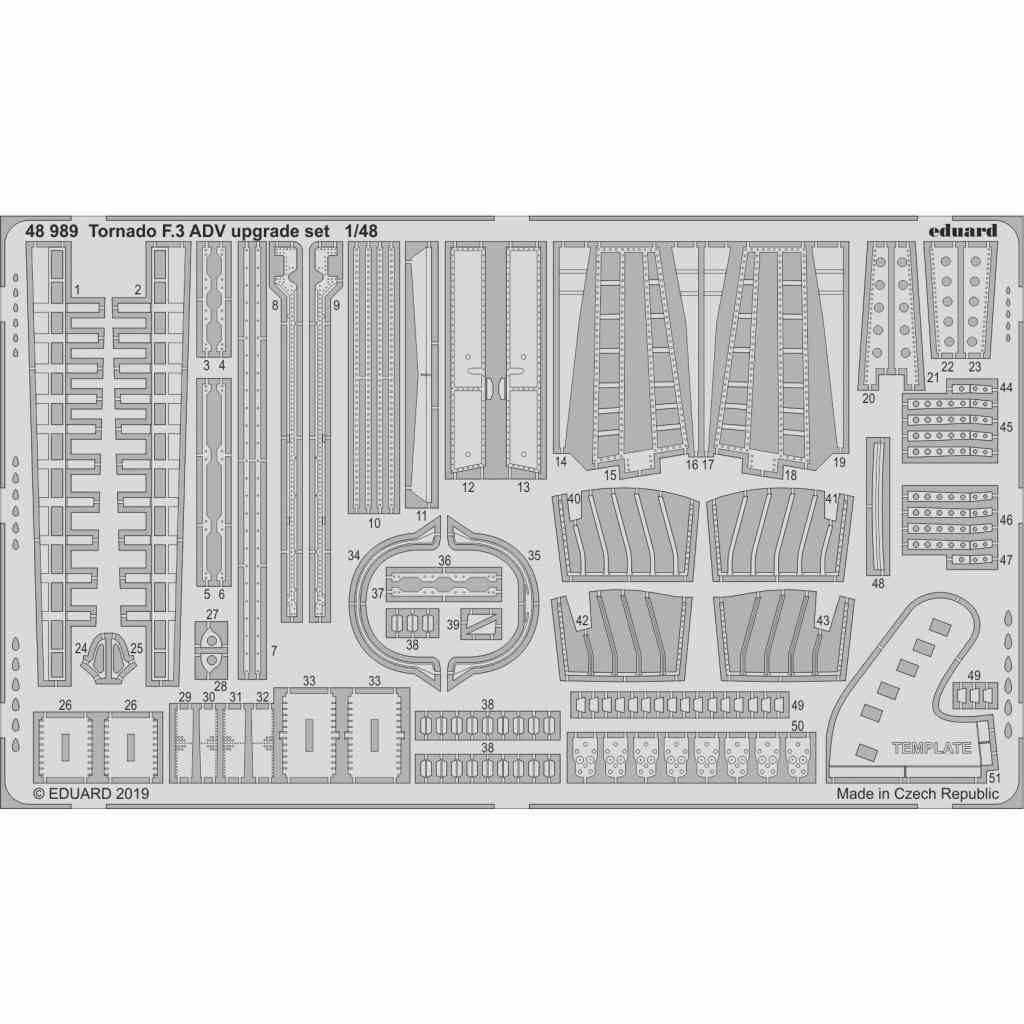 【新製品】48989 トーネード F.3 ADV アップグレードエッチングパーツ(エデュアルド/レベル用)