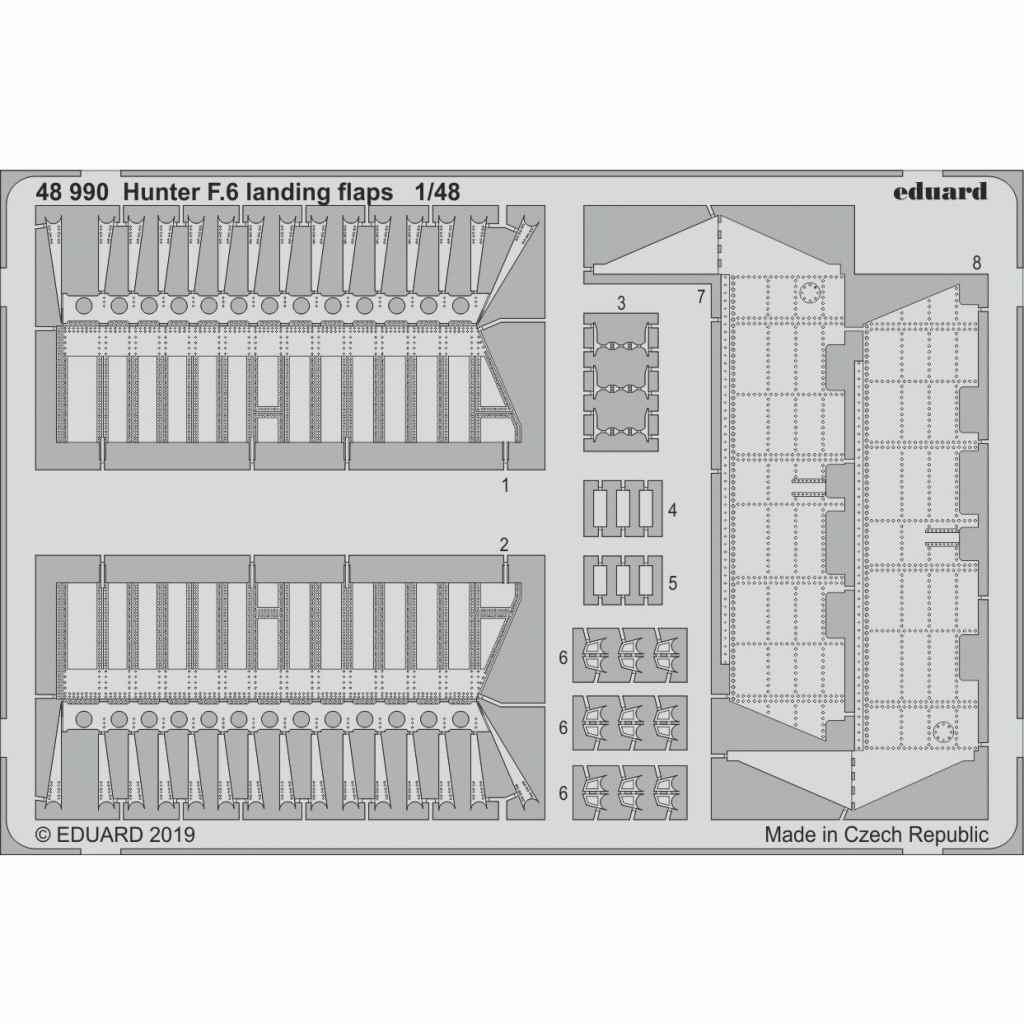 【新製品】48990 ホーカー ハンター F.6 ランディングフラップ (エアフィックス用)