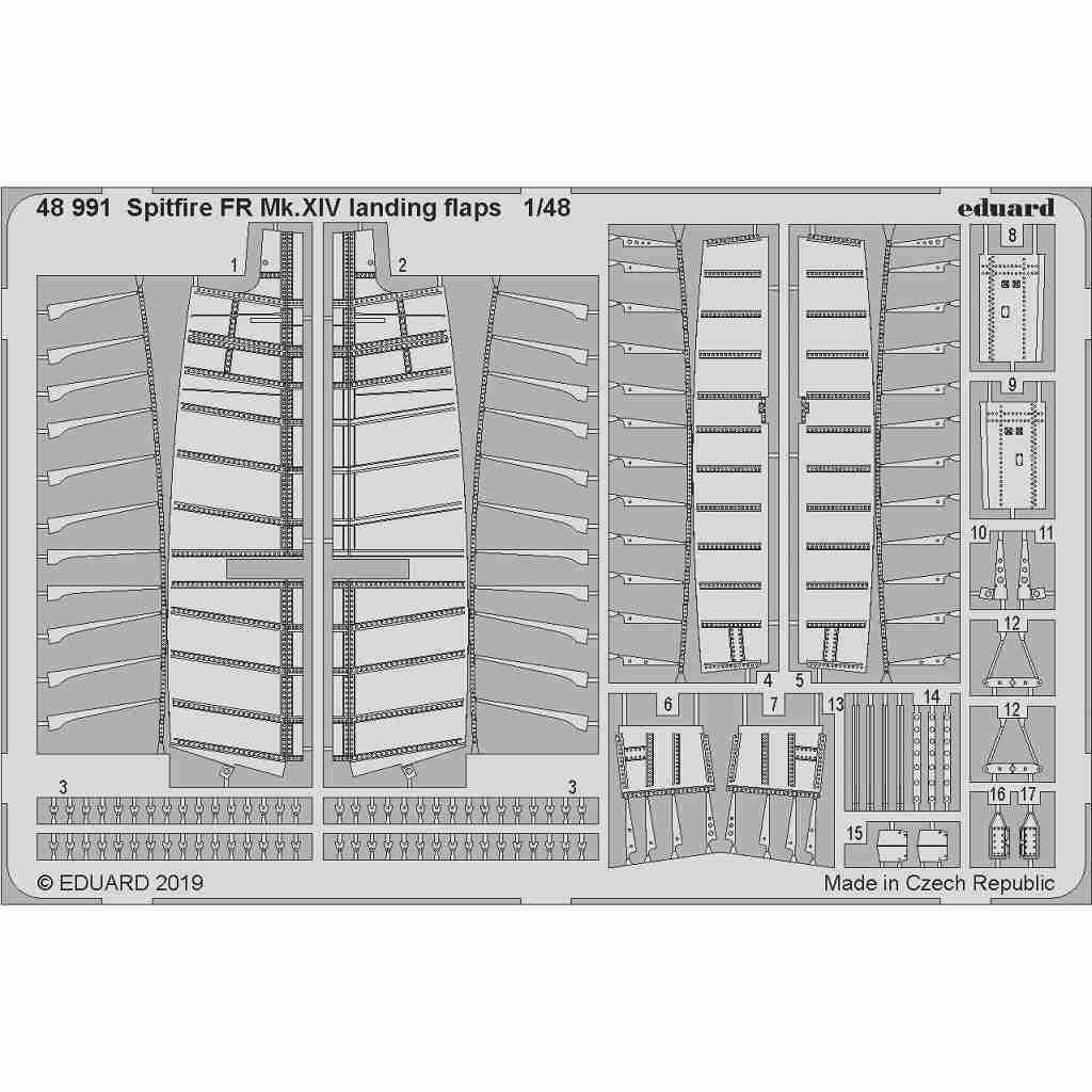 【新製品】48991 スーパーマリン スピットファイア FR Mk.XIV ランディングフラップ(エアフィックス用)