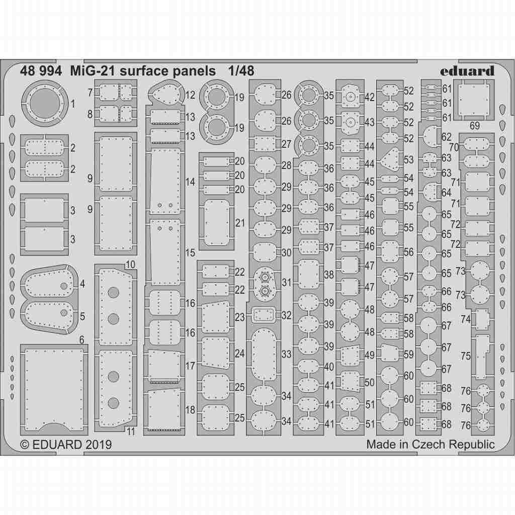 【新製品】48994 MiG-21MF フィッシュベッド アクセスパネル (エデュアルド用)