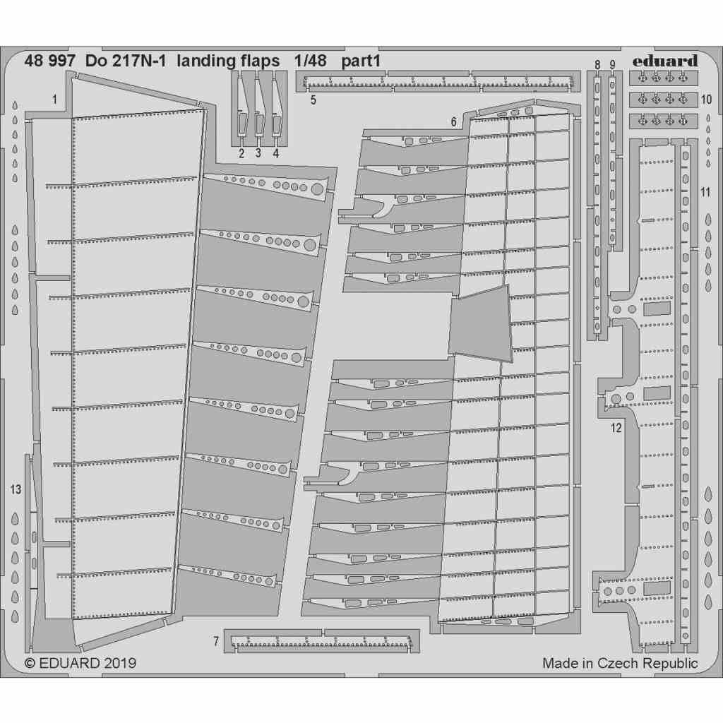 【新製品】48997 ドルニエ Do217N-1 ランディングフラップ (ICM用)