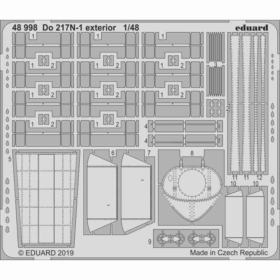 【新製品】48998 ドルニエ Do217N-1 外装エッチングパーツ (ICM用)