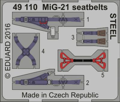 【新製品】49110)塗装済 MiG-21 フィッシュベッド シートベルト