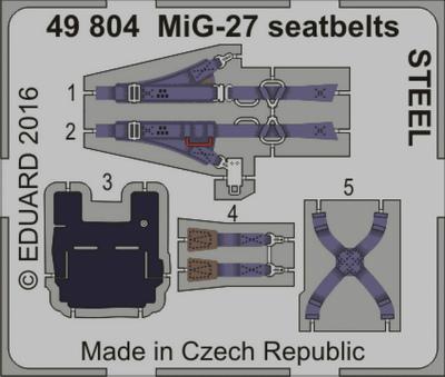 【新製品】49804)塗装済 MiG-27 フロッガー シートベルト