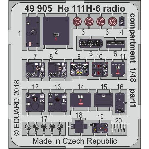 【新製品】49905 塗装済 ハインケル He111H-6 無線室