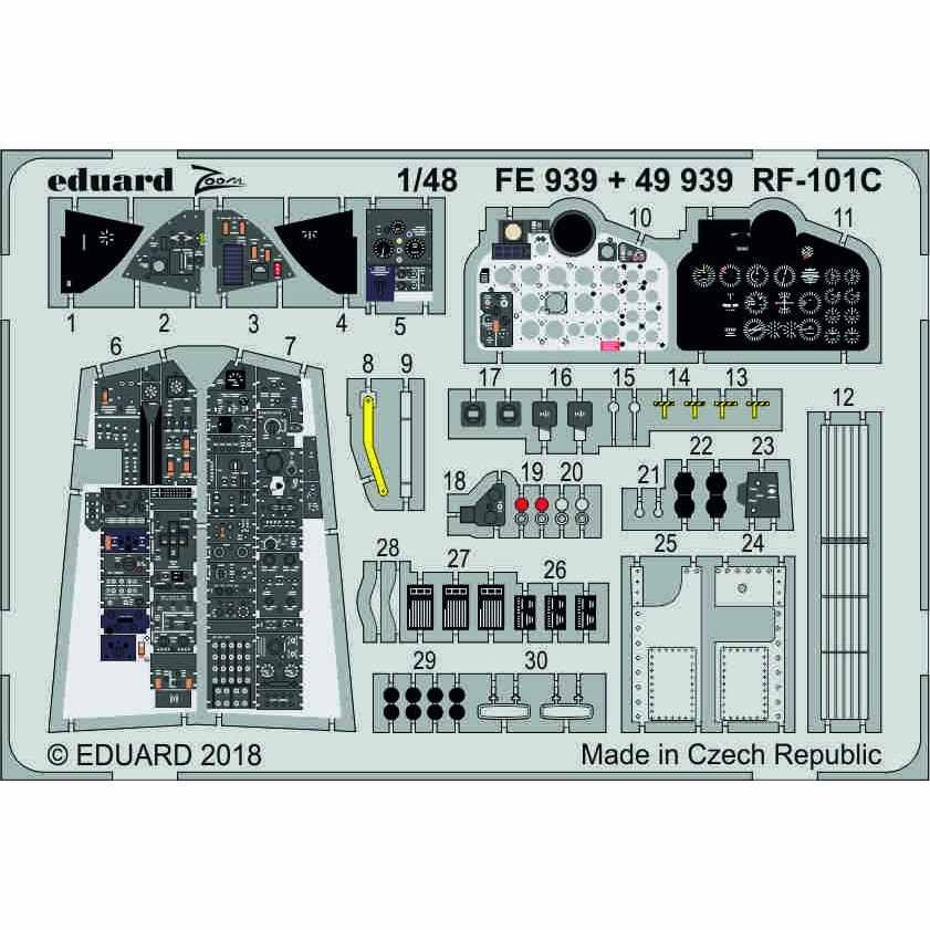 【新製品】49939 塗装済 RF-101C 内装