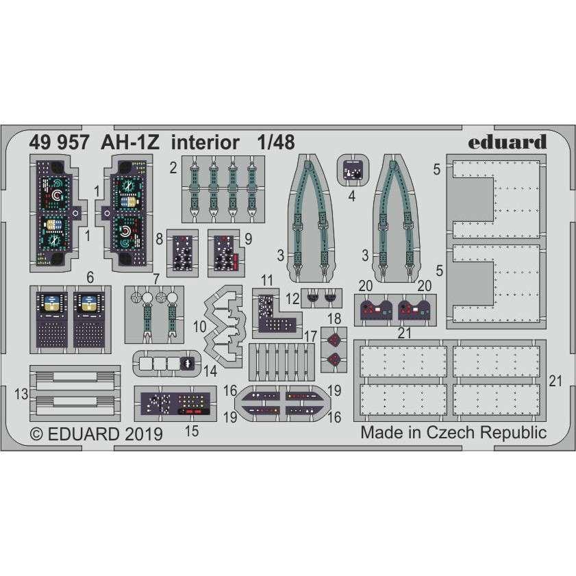 【新製品】49957 塗装済 AH-1Z ヴァイパー 内装