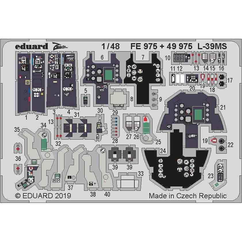 【新製品】49975 塗装済 アエロ L-39MS スーパーアルバトロス エッチングパーツ (トランぺッター用)