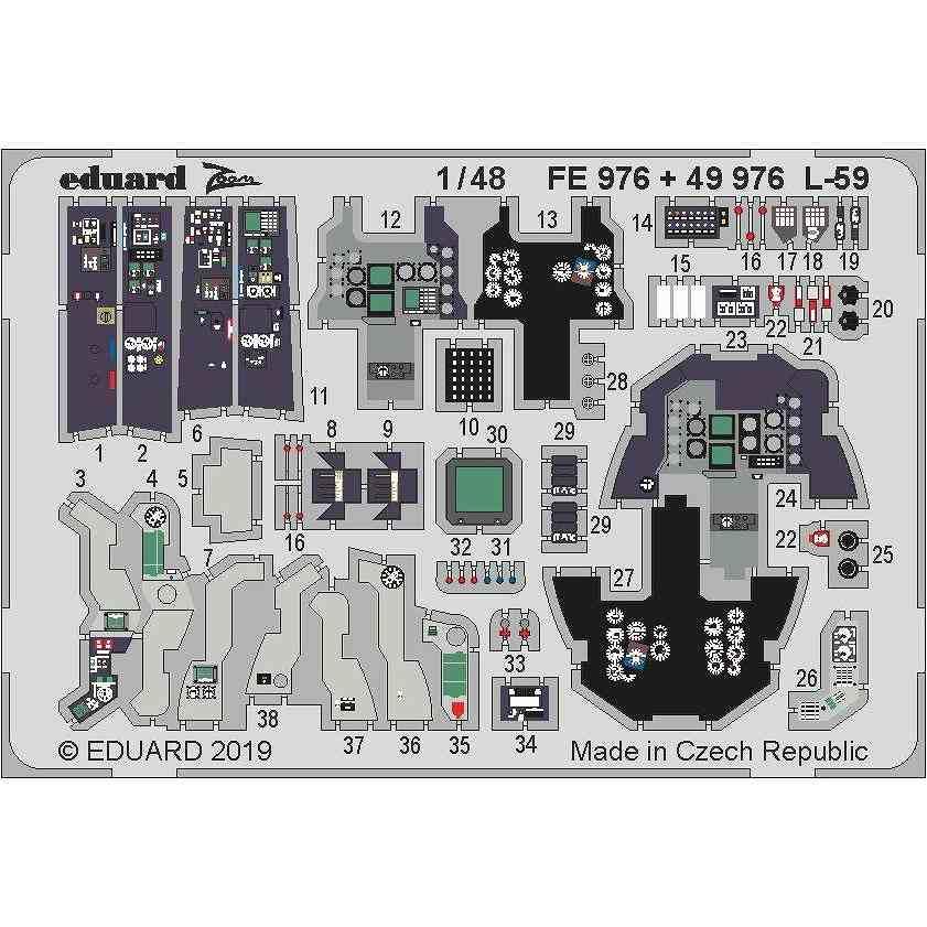 【新製品】49976 塗装済 アエロ L-59 スーパーアルバトロス エッチングパーツ (トランぺッター用)