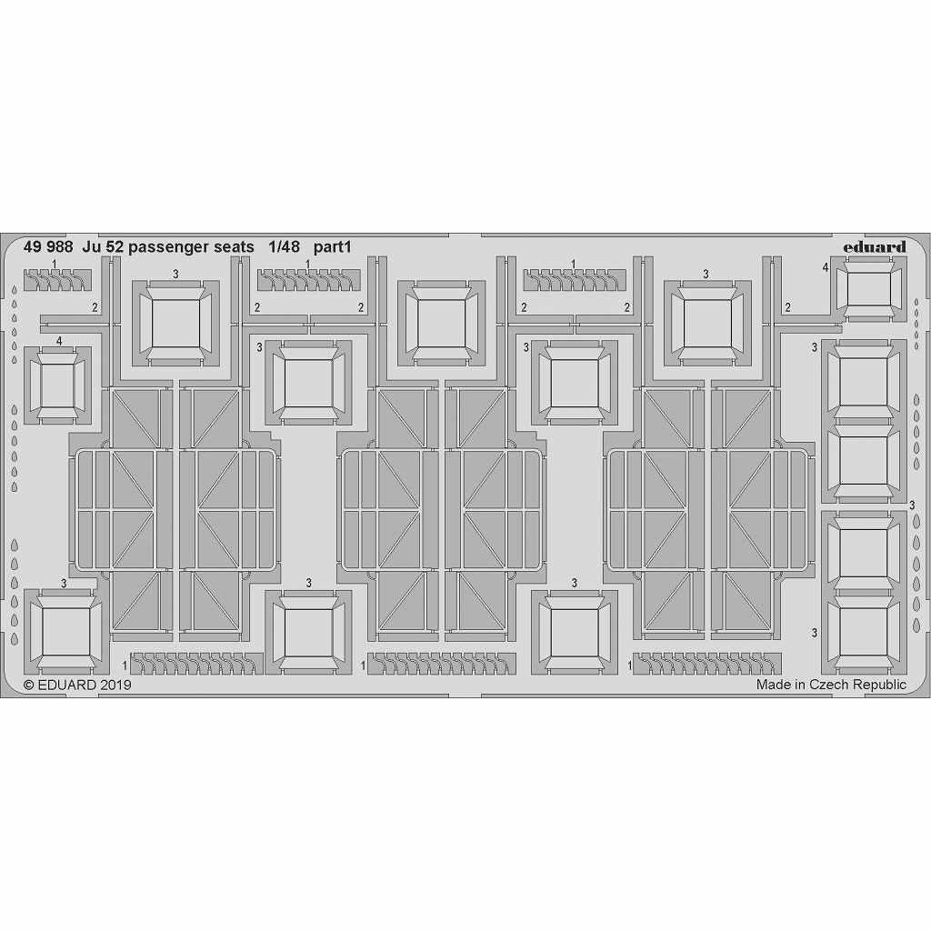 【新製品】49988 ユンカース Ju52 乗客座席エッチングパーツ (レベル用)