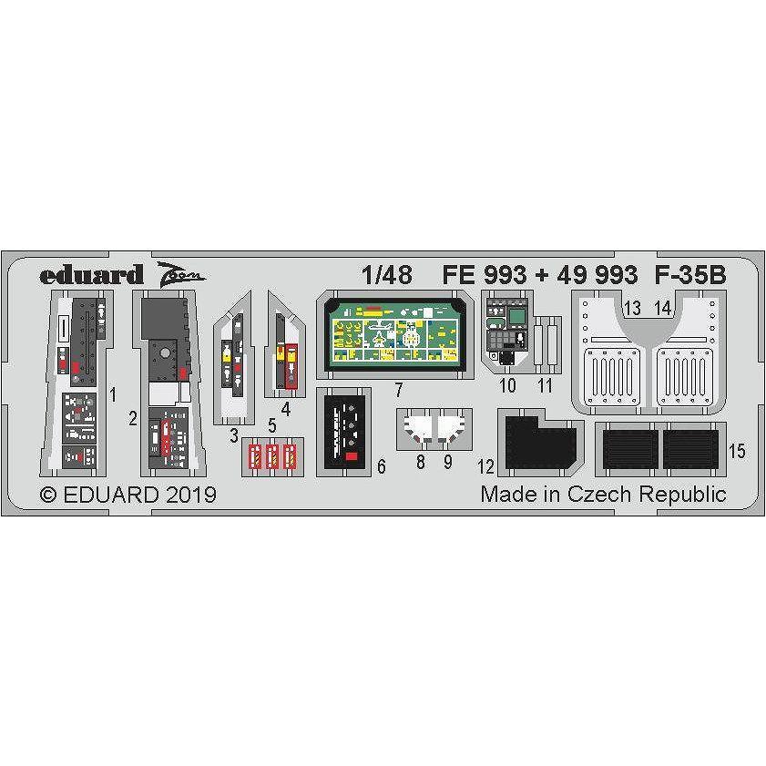 【新製品】49993 塗装済 F-35B ライトニングII 内装エッチングパーツ (キティホーク用)