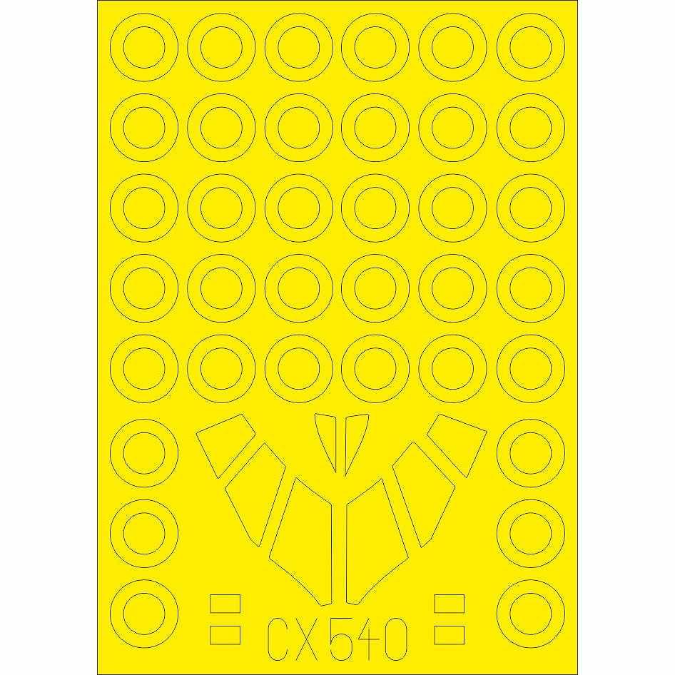【新製品】CX540 B-58 ハスラー 塗装マスクシール (イタレリ用)