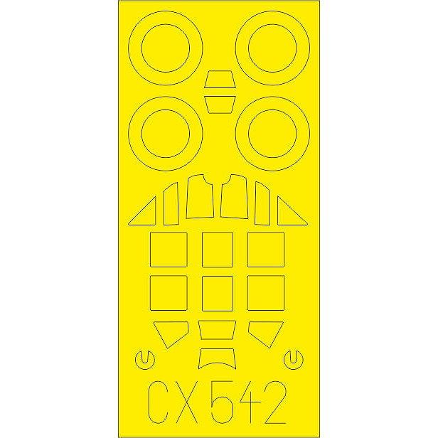 【新製品】CX542 メッサーシュミット Bf109G-6 塗装マスクシール (タミヤ用)