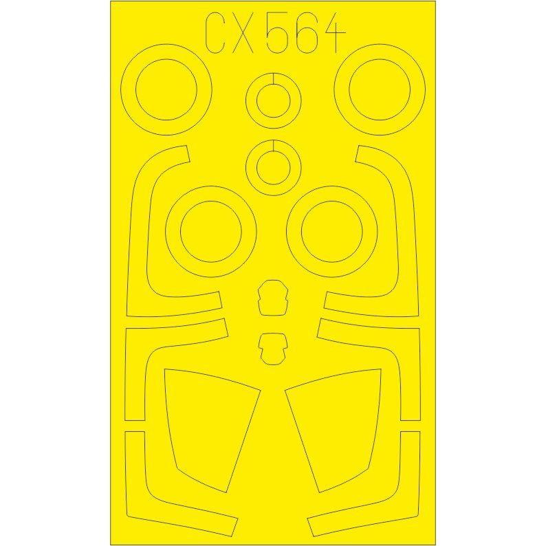 【新製品】CX564 マクドネル・ダグラス F-15J イーグル 塗装マスクシール (グレートウォール用)