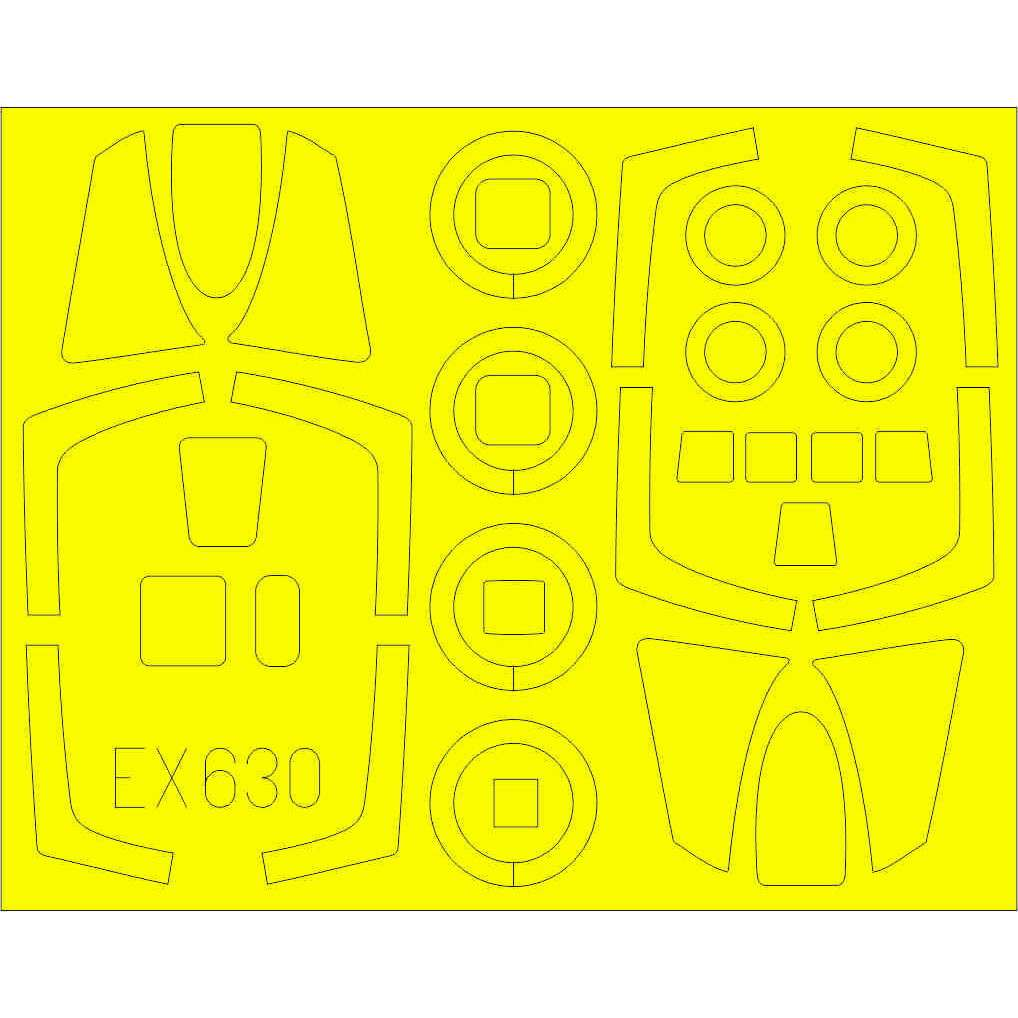 【新製品】EX630 RF-101C/G/H Tフェース両面塗装マスクシール