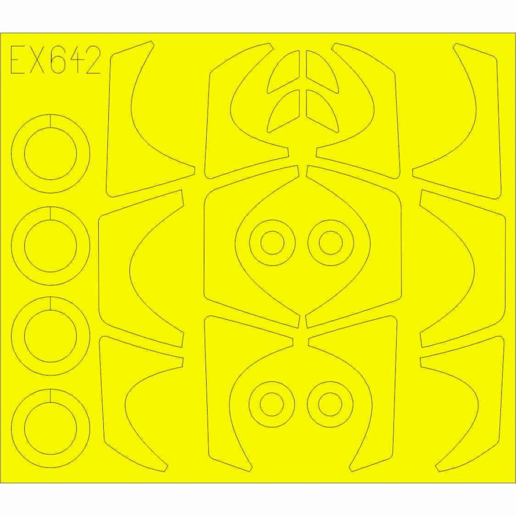 【新製品】EX642 ダッソー ラファールC Tフェース(キャノピー両面塗装用マスクシール)